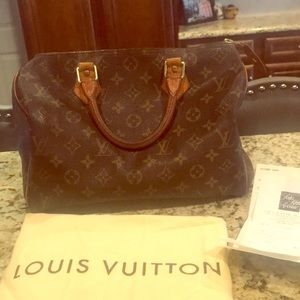 Authentic Louis Vuitton Speedy 30 Purse